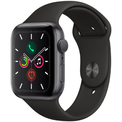 Часы Apple Watch Series 5 GPS 40mm Space Gray Aluminum Case with Black Sport Band (Спортивный ремешок черного цвета)