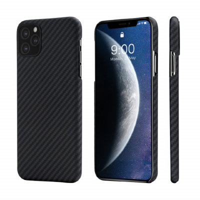 Кевларовый Чехол Pitaka Для Apple IPhone 11 Pro Max (Черно-Серый)